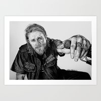 sons of anarchy Art Prints featuring Sons of Anarchy by waynemaguire777