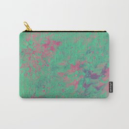 Mint and Pink Paint Carry-All Pouch