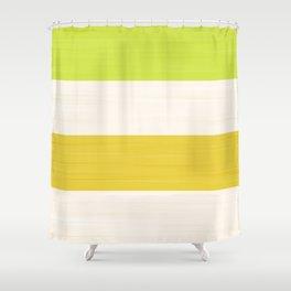 Brush Stroke Stripes: Key Lime Pie Shower Curtain
