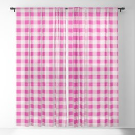 Pink Table Cloth Pattern Sheer Curtain