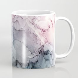 Blush and Payne's Grey Flowing Abstract Painting Coffee Mug
