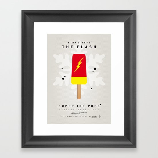 My SUPER ICE POP- No10 Framed Art Print