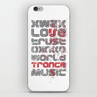 paramore iPhone & iPod Skins featuring Trust in Trance Music by Sitchko Igor