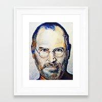 steve jobs Framed Art Prints featuring Steve Jobs by Original Art by Renteria