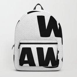 Away We Go in Black Backpack