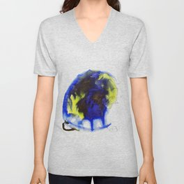 "Fantastic animals ""Blue Turtle"" Unisex V-Neck"