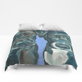 Emily and Annabel Dog Portrait Comforters