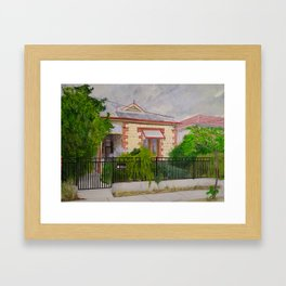 Thebarton House in Storm Framed Art Print