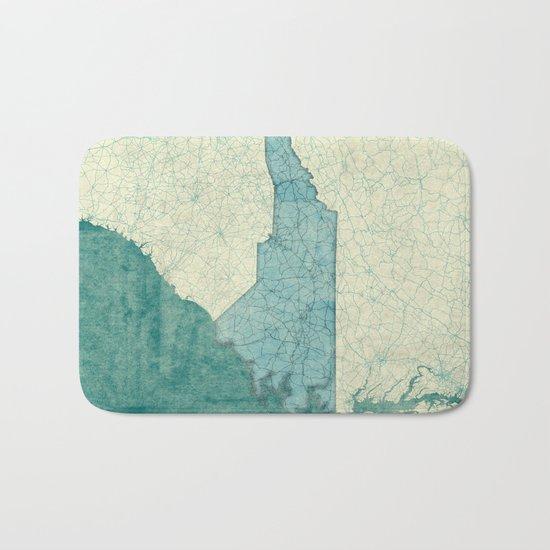 North Carolina State Map Blue Vintage Bath Mat