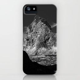 Rock at Hole in The Wall, Rialto Beach, La Push, Washington iPhone Case