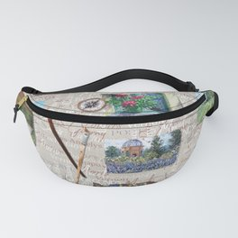 Postcards From France Pattern Fanny Pack