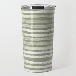 Simply Shibori Stripes Green Tea and Lunar Gray Travel Mug