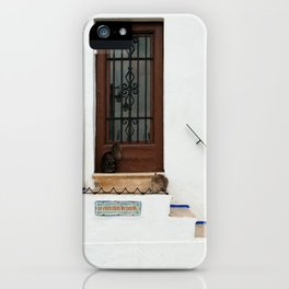 Two cats on White Stairs iPhone Case
