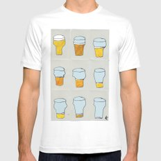 Beer diary. White Mens Fitted Tee MEDIUM