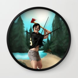 McReynolds and the Axe  Wall Clock