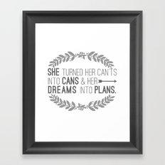 Plans Framed Art Print