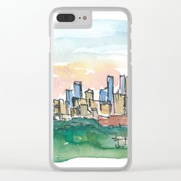 Minneapolis Minnesota Colorful Impressionistic USA Skyline Painting Clear iPhone Case