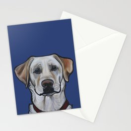 Huckleberry the yellow lab Stationery Cards