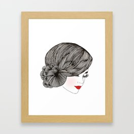 Vintage Lady - Illustration By Chrissy Lau Framed Art Print