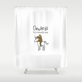 Onwards at A Reasonable Speed Shower Curtain