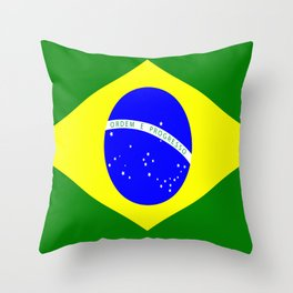 Flag of Brazil Throw Pillow