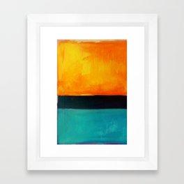 Mark Rothko Interpretation Orange Blue Framed Art Print