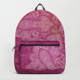 Big paisley mandala in raspberry Backpack