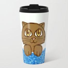 Cute Cat in Bath Tub Travel Mug