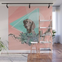 Eclectic Geometric Redbone Coonhound Dog Wall Mural