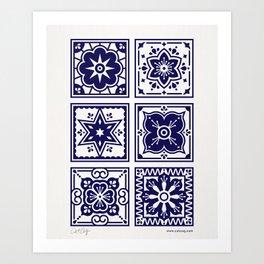 Talavera Mexican Tile – Porcelain Palette Art Print