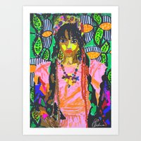 fka twigs Art Prints featuring FKA TWIGS  by Happy as Flynn