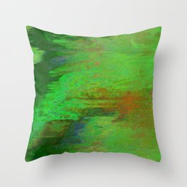 07-030-14 (City Reflection Glitch) Throw Pillow