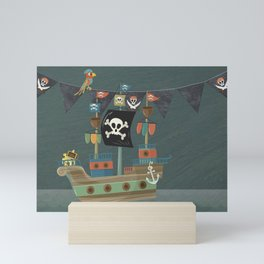 ships ahoy Mini Art Print