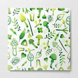 Funny pattern with mushrooms Metal Print