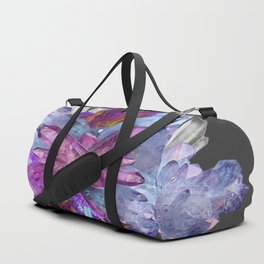 CRYSTALLINE RADIATING CLUSTER OF AMETHYST & QUARTZ Duffle Bag