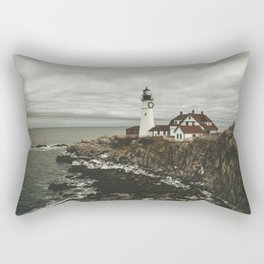 Portland Headlight in winter Rectangular Pillow