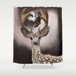 Deer's Balance  Shower Curtain