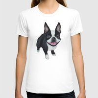 terrier T-shirts featuring Boston Terrier by PaperTigress