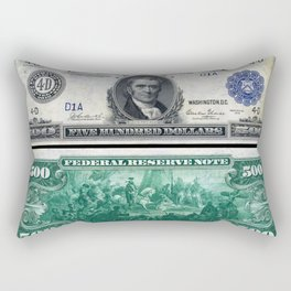 1918 $500 Federal Reserve Marshall Bank Note Rectangular Pillow
