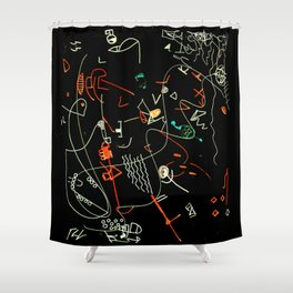 Composizione I negativ Shower Curtain