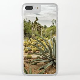 Succulents at Huntington Desert Garden No. 3 Clear iPhone Case