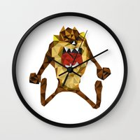 devil Wall Clocks featuring Devil by mutto