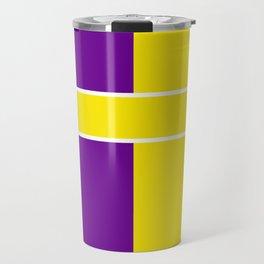 Team Colors 6....Yellow,purple Travel Mug