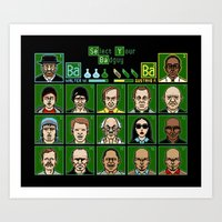 8 Bit Bad Guys Art Print