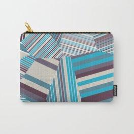 Skycraper Blues - Voronoi Stripes Carry-All Pouch