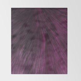 FUR PURPLE Throw Blanket
