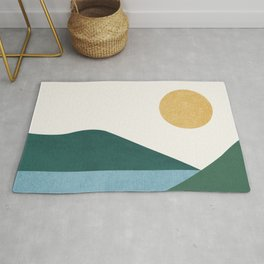 Sunny Lake - Abstract Landscape Rug