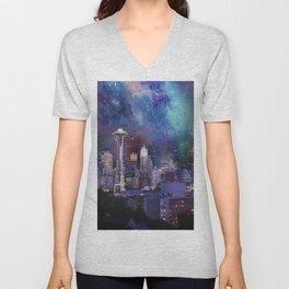 Spacey Seattle Unisex V-Neck