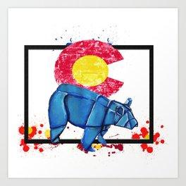 Paper Co Bear- Wild World Of Paper Series Art Print