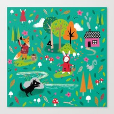Little Red Riding Rabbit Canvas Print